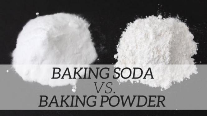 Beda baking powder dan soda kue.