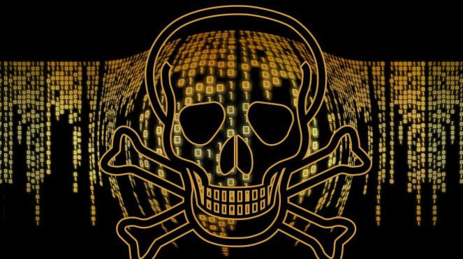 Ilustrasi virus komputer.