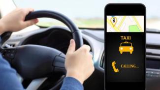 Ilustrasi  taksi online.