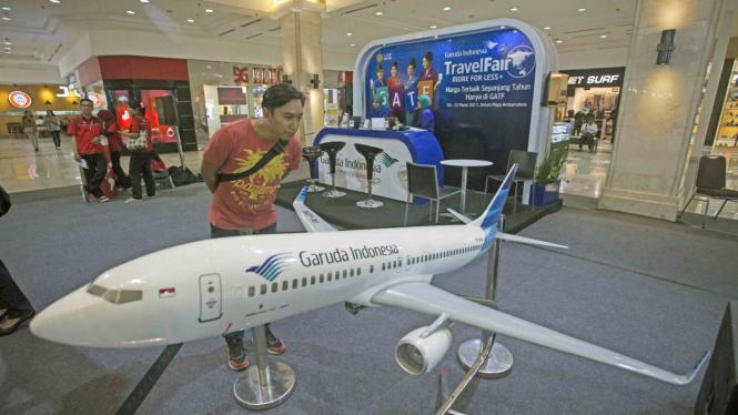 Ilustrasi Pesawat Garuda.