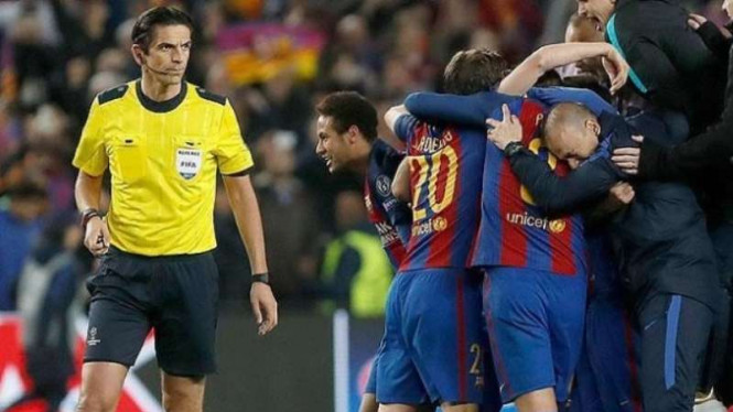 Psg Ungkap 10 Kesalahan Fatal Wasit Laga Barcelona Ke Uefa