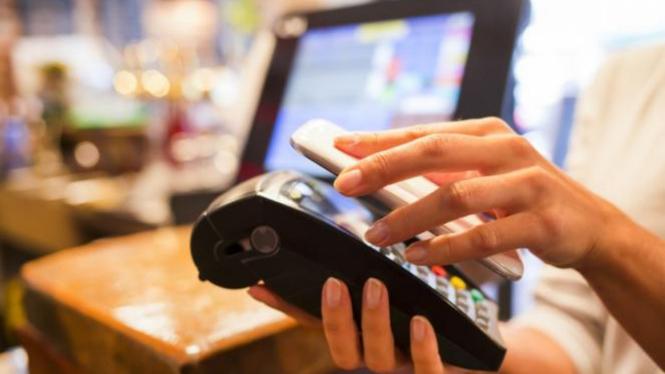 Ilustrasi mobile payment.