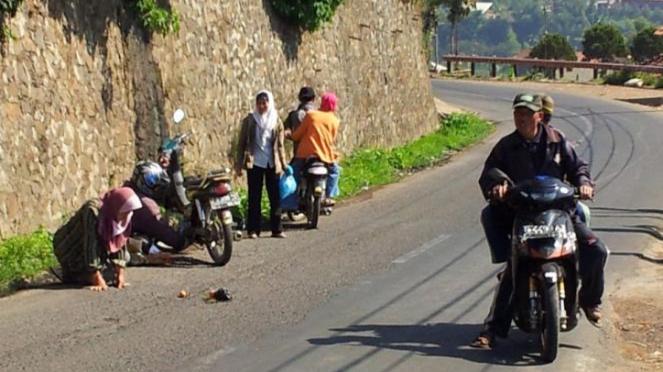 Kecelakaan sepeda motor.