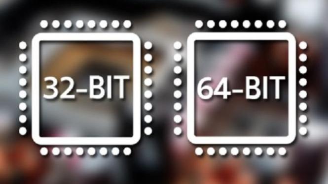 Ilustrasi prosesor 32 dan 64 bit.