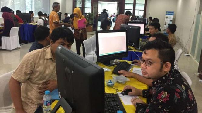 Pelayanan pajak di kantor pusat Direktorat Jenderal Pajak di Kementerian Keuangan, Jakarta.