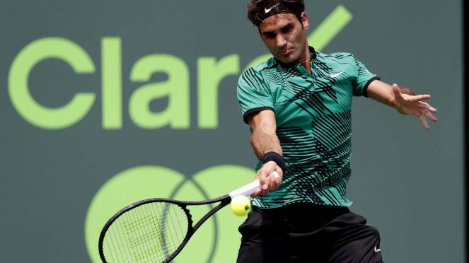 Federer Juarai Miami Open Usai Kalahkan Nadal