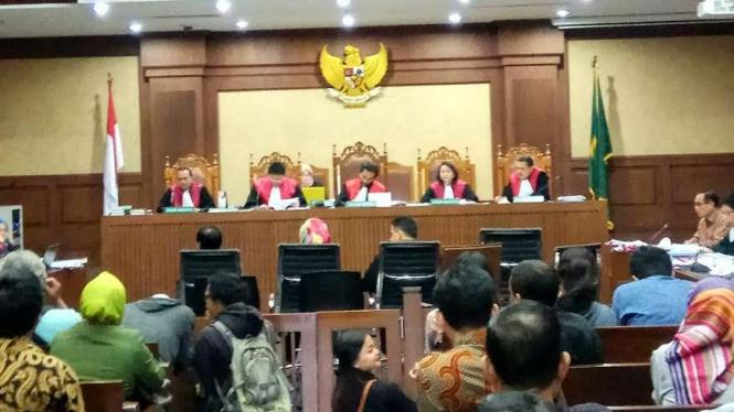Ilustrasi suasana sidang kasus korupsi di Pengadilan Tipikor