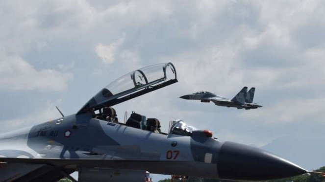 Pesawat tempur Sukhoi. (Ilustrasi)