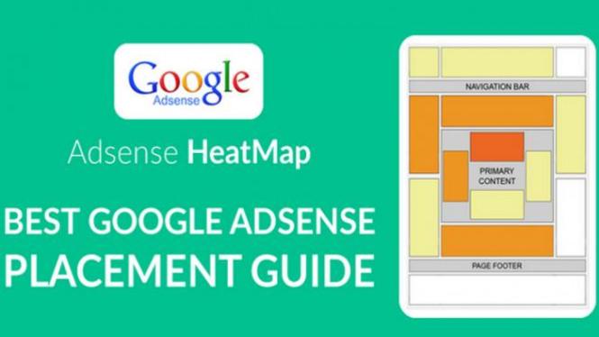 Penempatan iklan Google Adsense.