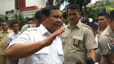 Ketua Umum Dewan Pimpinan Pusat Partai Gerindra Prabowo Subianto.