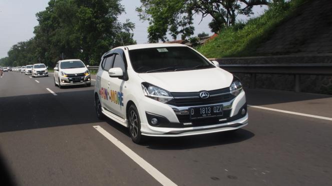 Uji berkendara New Daihatsu Ayla.