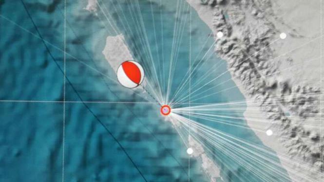 Ilustrasi gempa di Mentawai.