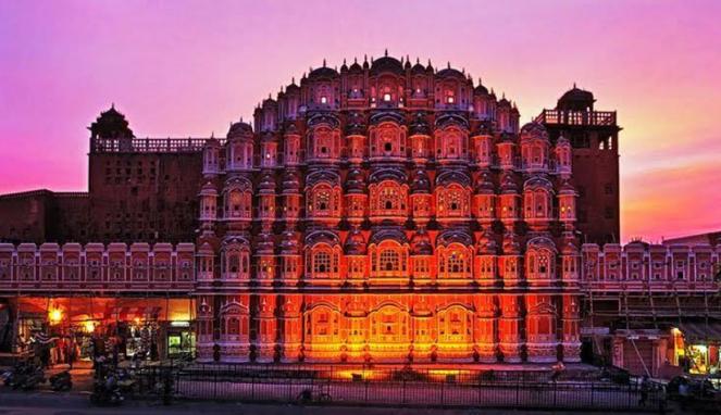 Hawa Mahal di Jaipur, India.