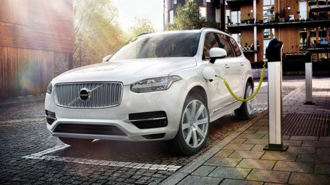 Ilustrasi mobil listrik Volvo.