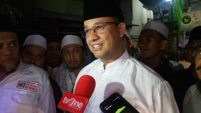 Gubernur DKI Jakarta terpilih Anies Baswedan.