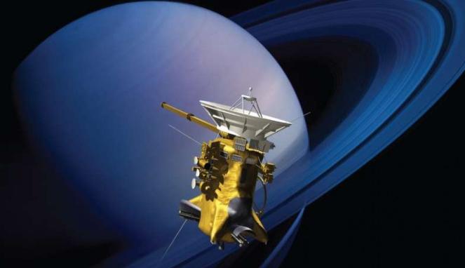 Pesawat luar angkasa Cassini mendekati cincin Saturnus