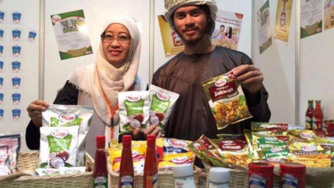 Produk PT Sasa Inti di pameran di Arab Saudi