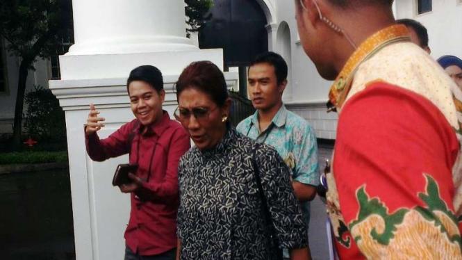 Menteri Kelautan dan Perikanan Susi Pudji Astuti di Istana Negara