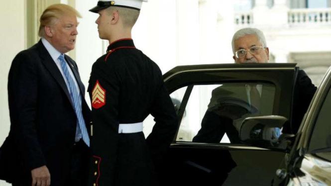 Presiden Palestina Mahmoud Abbas bertemu dengan Presiden AS Donald Trump beberapa waktu lalu.