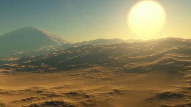 Ilustrasi Planet Alien.