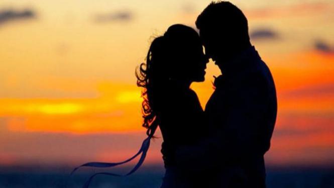 Ilustrasi pasangan romantis.