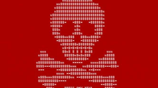 Ilustrasi virus Ransomware WannaCry.
