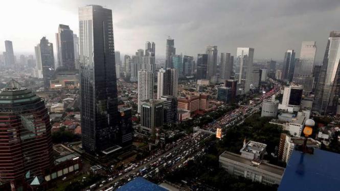 Ilustrasi Kota Jakarta.