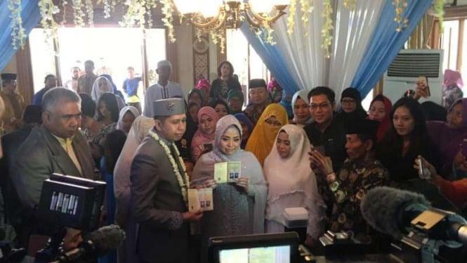 Pernikahan ketiga Muzdalifah beberapa waktu lalu.