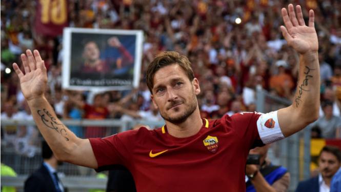 Mantan Kapten AS Roma, Francesco Totti