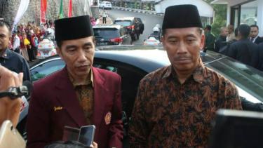 Presiden Joko Widodo saat berada di Universitas Muhamadiyah Malang.