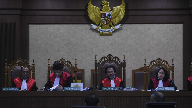 Majelis hakim di Pengadilan Tipikor. (Foto ilustrasi).