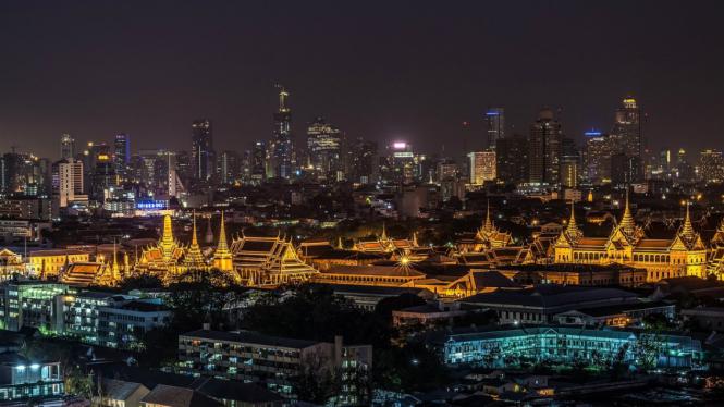 Pemandangan Bangkok, Thailand.
