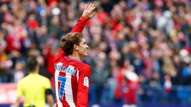 Antoine Griezmann saat masih berseragam Atletico Madrid.