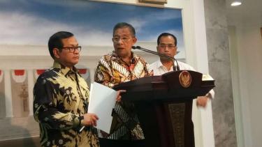 Menko Perekonomian Darmin Nasution di Kantor Presiden.