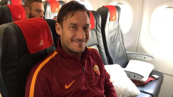 Francesco Totti saat masih membela AS Roma