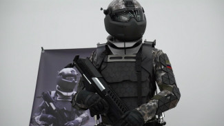Purwarupa pakaian tempur masa depan tentara Rusia.