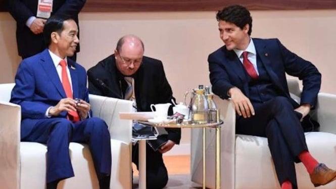 Presiden Joko Widodo dan Perdana Menteri Kanada Justin Trudeau.