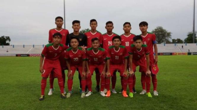 Timnas Indonesia U-16 di Piala AFF U-15 2017 Thailand