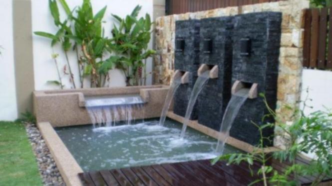 Taman Kolam Ala Bali Cocok Bagi Rumah Bergaya Minimalis Viva