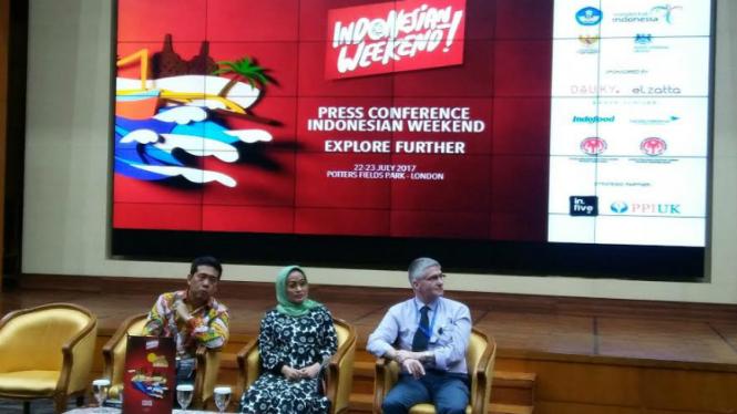 Konferensi pers Indonesian Weekend.