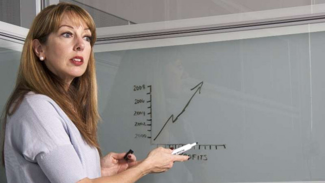 Ilustrasi guru mengajar