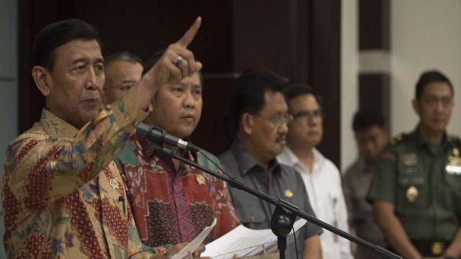 Menko Polhukam Wiranto.