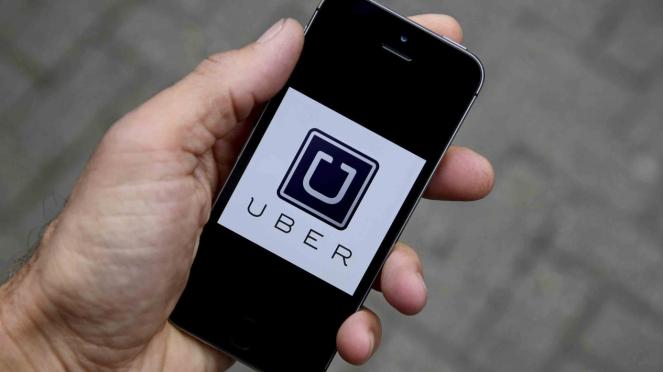 Aplikasi transportasi online Uber.