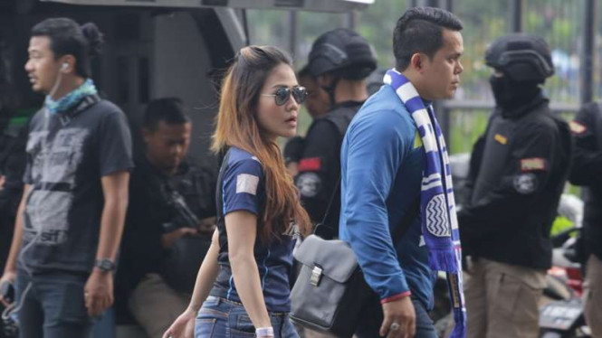 Ilustrasi Bobotoh wanita di laga Persib Bandung vs Persija Jakarta