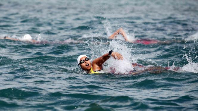 Ilustrasi olahraga Triathlon.