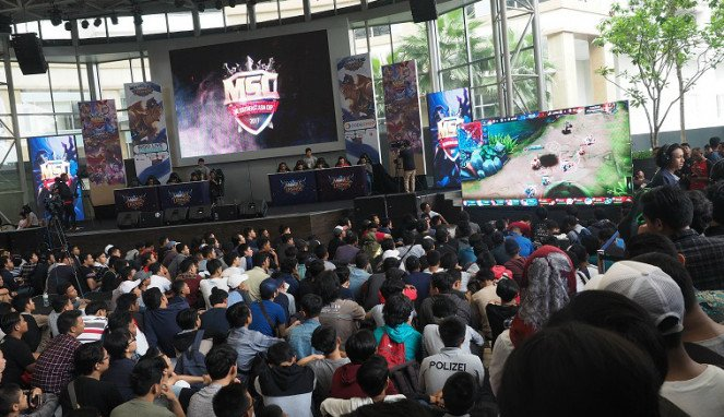 Kompetisi game The Mobile Legends Southeast Asia Cup Final 2017: Indonesia.