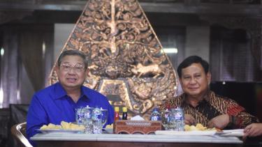 Pertemuan SBY dan Prabowo di Puri Cikeas beberapa waktu lalu.