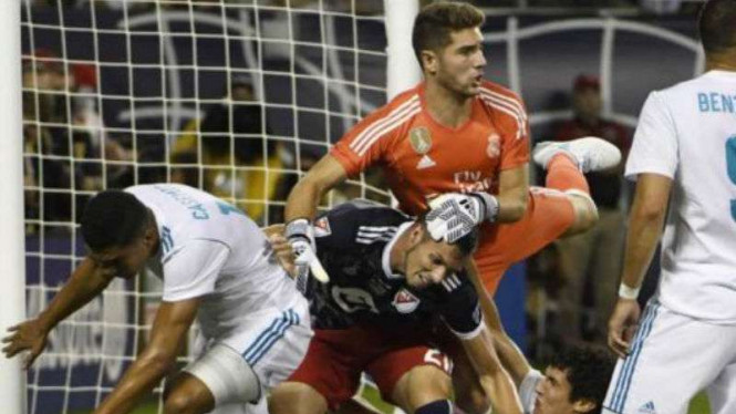 Putra Zinedine Luca Zidane, saat Real Madrid vs MLS All Star.