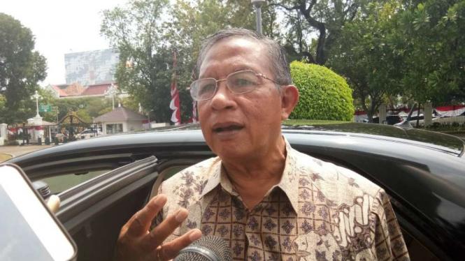Menko Perekonomian Darmin Nasution di Istana Negara, Jakarta.