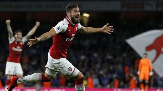 Penyerang Arsenal, Olivier Giroud.